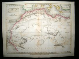 Africa Antiqua: 1826 Antique Map. Butler